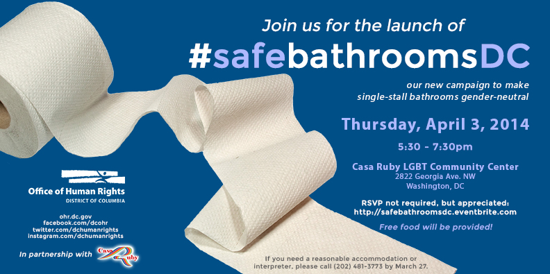 Launch of Safe Bathrooms DC Campaign