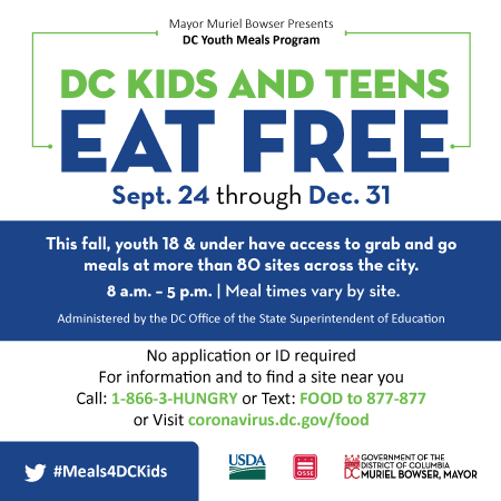 DC Free Fall Summer Meals