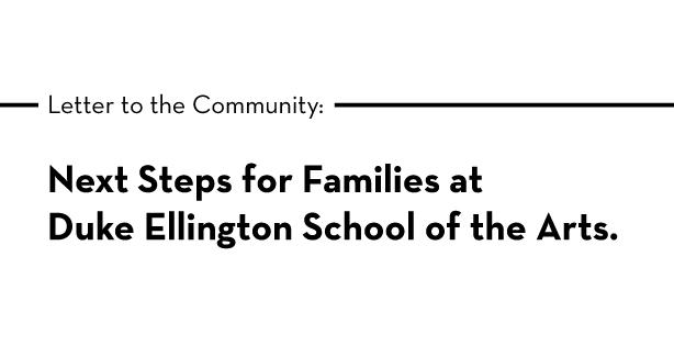 Next Steps for Families at Duke Ellington School of the Arts