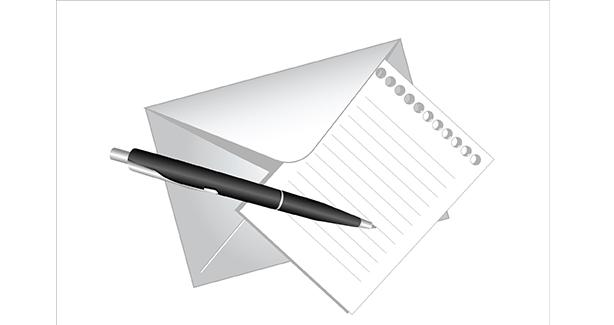 Image of pen and envelope