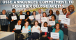 image of OSSE employees holding signs promoting expanded college access